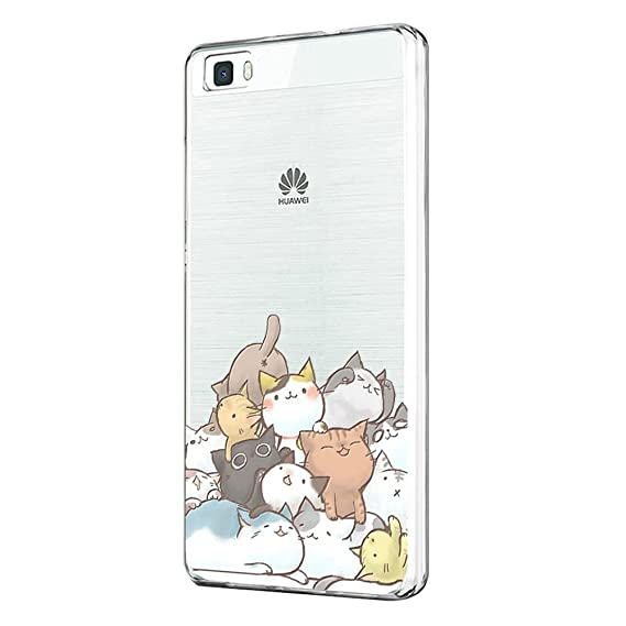 Funda Huawei P8 Lite 2015 Carcasa Huawei P8 Lite 2015 Dibujos Animados Transparente Case Cover Silicona Suave Funda para Huawei P8 Lite 2015 (P8 Lite ...