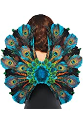 Amscan Womens Peacock Feather Halloween Costume Cosplay Wings