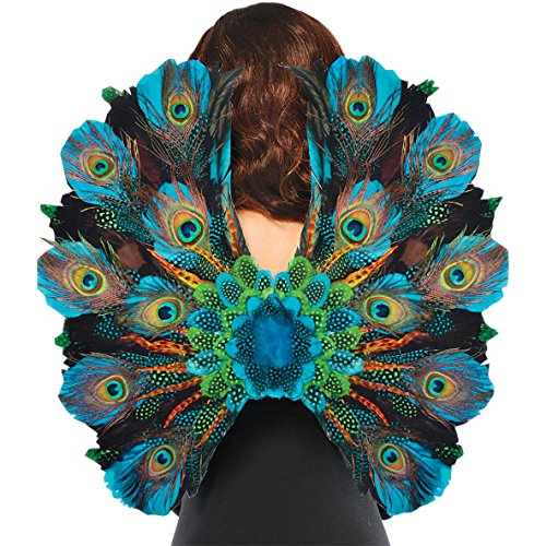 [Amscan Womens Peacock Feather Halloween Costume Cosplay Wings] (Sexy Halloween Costumes Canada)
