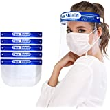 Safety Face Shield, MKBOO 5 PCS Full Face Protect Eyes and Face Plastic Face Shield Anti-Saliva Windproof Dustproof…