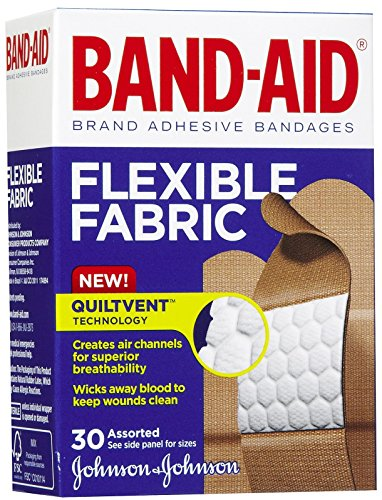Band-Aid Flexible Fabric Adhesive Bandages-30ct, Assorted Sizes