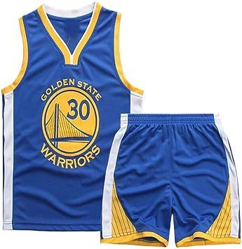 Angel ZYJ Maillots de Baloncesto para Niños- Conjunto NBA Curry#30 ...