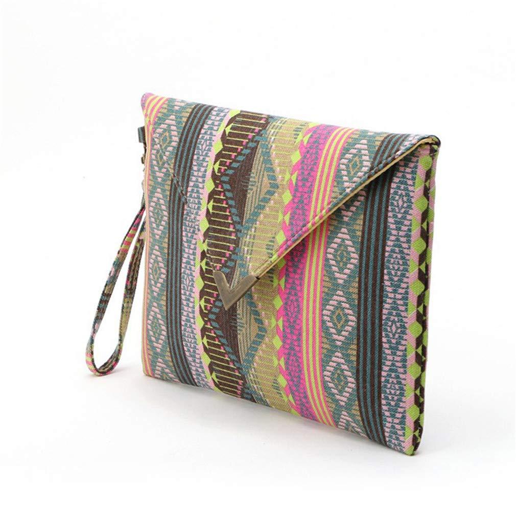 Vintage Evenlope Clutch Bag Messenger Bags Striped Handbags