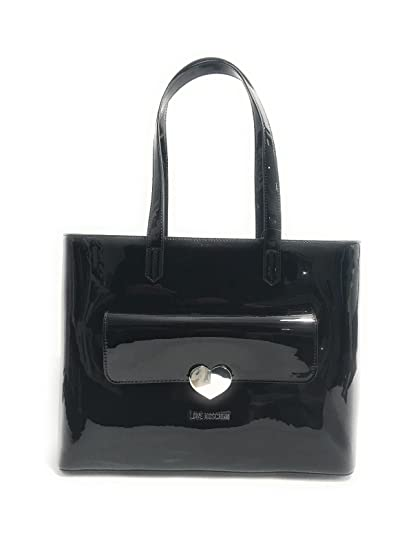 bf0034a60a9 Buy LOVE Moschino Women's Metallic Tote w/ Heart Black Handbag Online at  Low Prices in India - Amazon.in