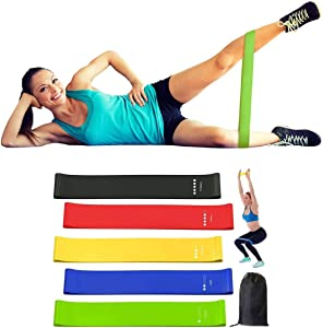 GRASEP Home Gym Bodyweight Resistance Training Kit Gymnastic Rings with Wall Mount Resistance Band