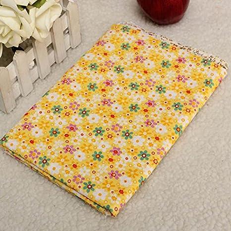 La serie de flores amarillas 8pcs 40x50cm algodón de costura ...