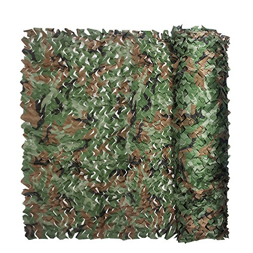 Camouflage Netting, Iunio 32.8ft x 5ft / 10m x 1.5m Custom Woodland Camo Net Great For Sunshade Camping Shooting Hunting etc.