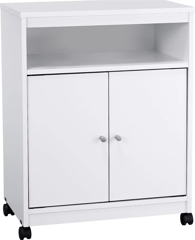 Ameriwood Landry Kitchen Microwave Cart, White: Furniture & Decor