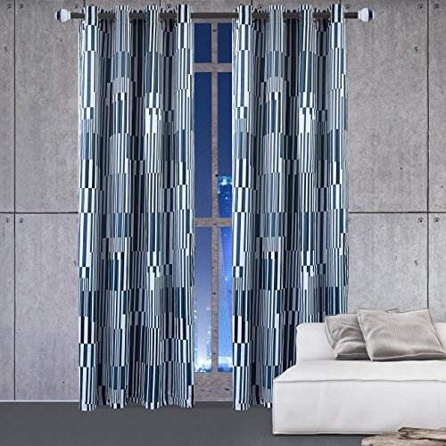 KEQIAOSUOCAI Blackout Curtains Flame Resistant Window Drapes Darkening Grommet Window Curtains for Kids Living Room (52X84Inch,1Panel)