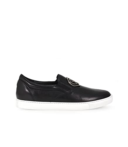 Slip-on Sneaker Tux leather black Pony Dsquared2 cOWGXM