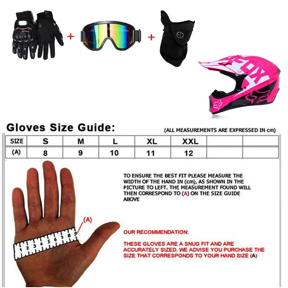 Crash Helmet with Goggles Gloves Mask Adult Motocross Helmet Full Face Motorcycle Crash Helmet for MTB ATV Off Road Helmet