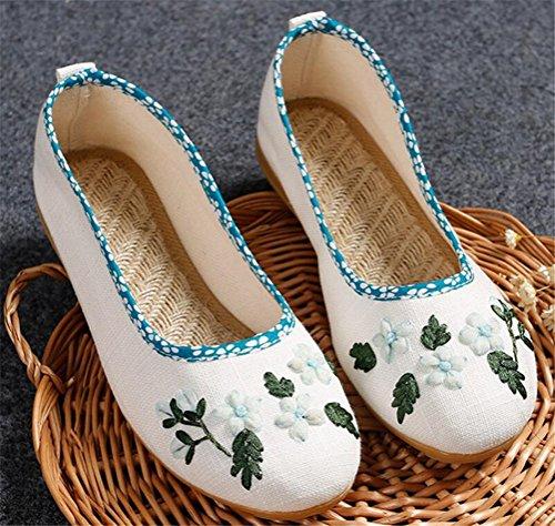 Scarpe Satuki Ricamate Per Donna, Scarpe Piatte Slip-on In Mocassino Casual Fatte A Mano Stile Cinese