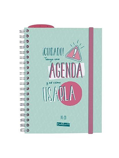 Finocam - Agenda 2019-2020 semana vista apaisada formato pequeño (120x169 mm) español Talkual Turquesa