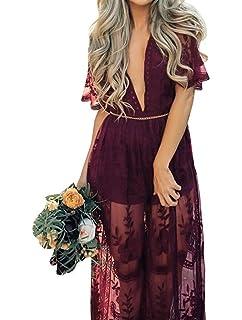 a1f8cac6199 PinkBlush Maternity Lace Mesh Overlay Maxi Dress at Amazon Women s ...