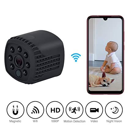 Cámara espía 1080P, Mini cámara WiFi Oculta, cámara de vigilancia de Seguridad inalámbrica,
