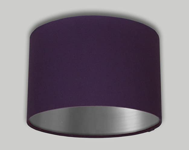 Purple drum lampshade brushed silver inner 20cm 25cm 30cm 35cm 40cm purple drum lampshade brushed silver inner 20cm 25cm 30cm 35cm 40cm 50cm 60cm 70cm lamp shade mozeypictures Images