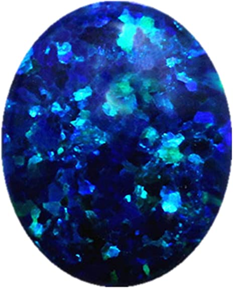 beautiful quality Blue Opal oval Shape natural blue opal gemstone  Cabochon Loose Gemstone For Making Jewelry 45.00 Ct 50x18x8 mm