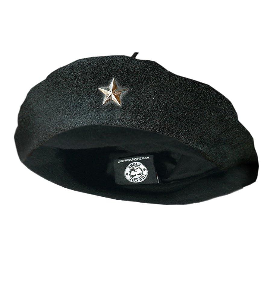 eb4269457d48 Che Guevara Store Beret Black Original Beret, Silver Star at Amazon Women's  Clothing store: