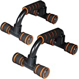 Lysport Pair of Incline Push Up Bars Stands Handles for Men and Women Workout Exercise Home Fitness Training Muscle Chest Building