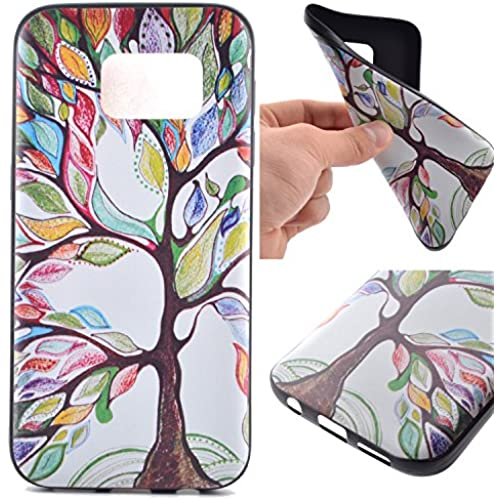 Samsung Galaxy S7 Case,S7 Case,FAIRYCASE(TM)Black TPU Soft Case for Galaxy S7 Color Tree of Life Sales