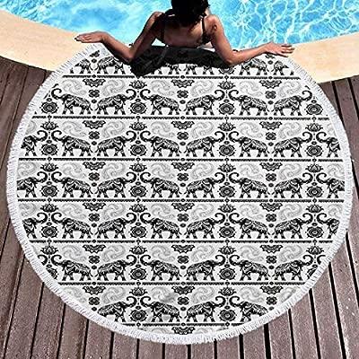 UUwant Toalla de Playa Redonda Round Beach Towel Bohemian ...