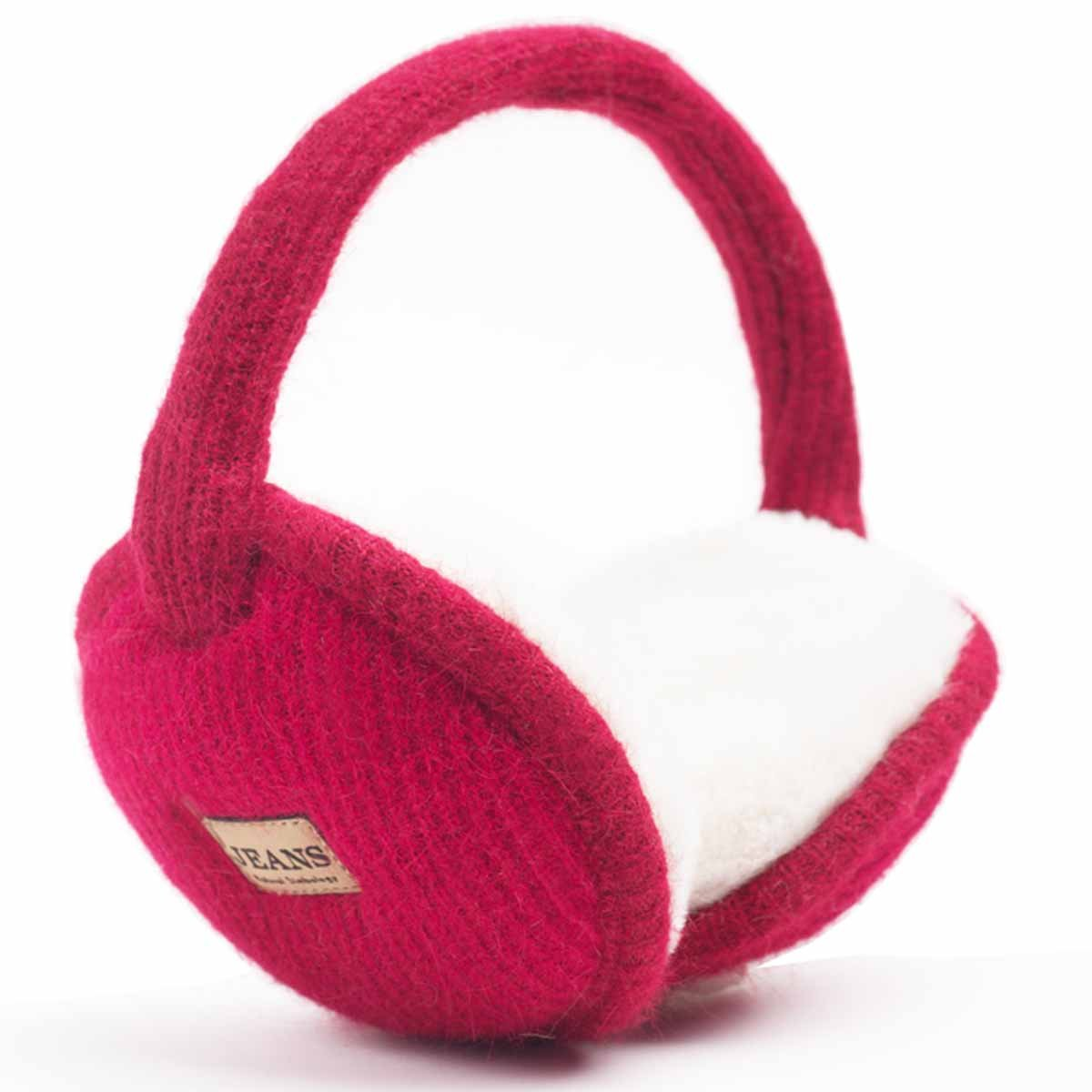 YOMOSI Women Girls Men Winter Warm Adjustable Earmuffs, Ear Warm Plush Foldable (red)