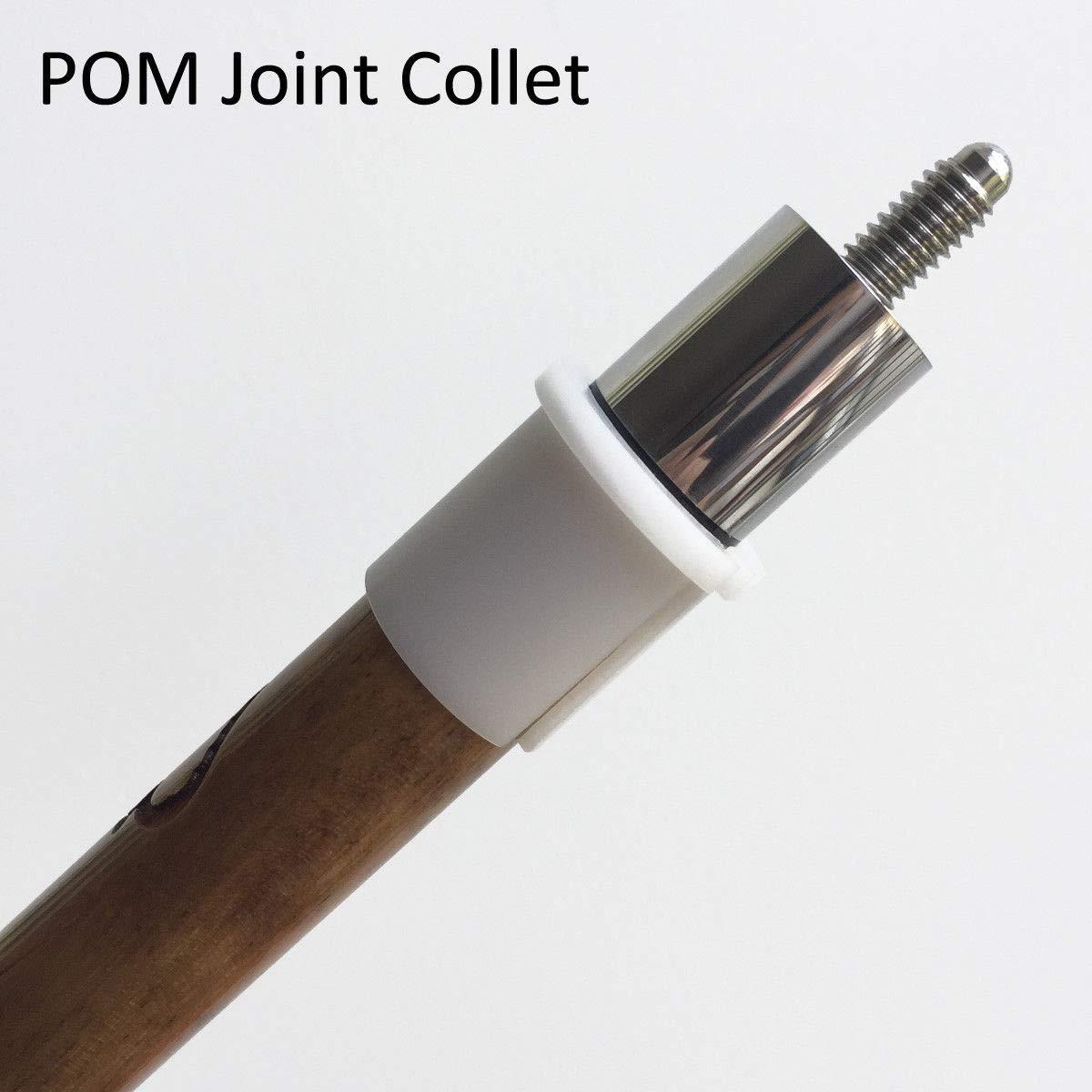 プールキュー ホワイト POM ジョイントコレットスリーブ キュービルディングツール 旋盤アクセサリー B07J6J8RRF