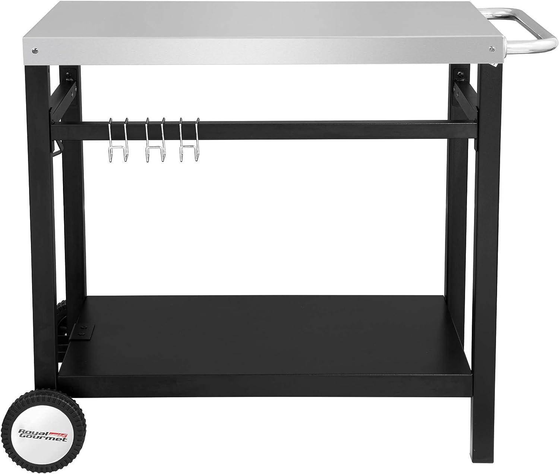 Amazon.com: RoyalGourmet mesa de comedor móvil de doble ...