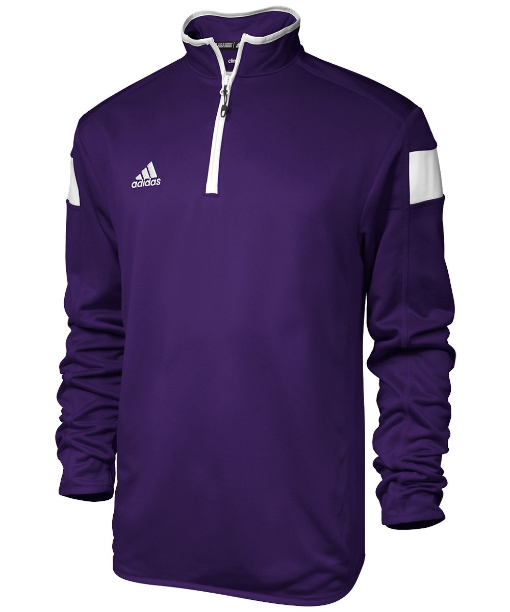 adidas climalite Shockwave 1/4 Zip Long sleeve, Collegiate Purple/White, X-Large by adidas