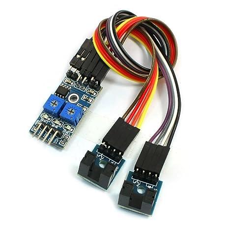 Modulo del sensor del detector de velocidad - TOOGOO(R) 2 canales Modulo del