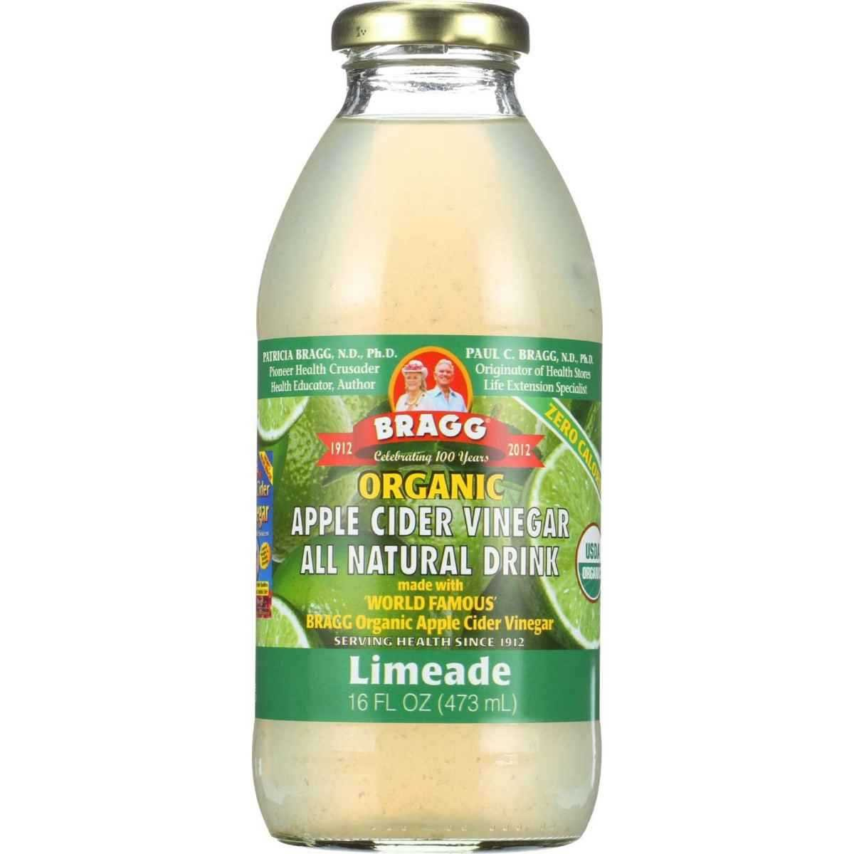 Bragg Organic Apple Cider Vinegar Limeade 16 Ounce New Arrival 473 Ml 12 Per Case Fruit Vinegars Grocery Gourmet Food