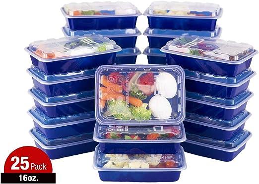 ISO comida Prep recipientes con tapas Certificado Sin BPA apilable ...