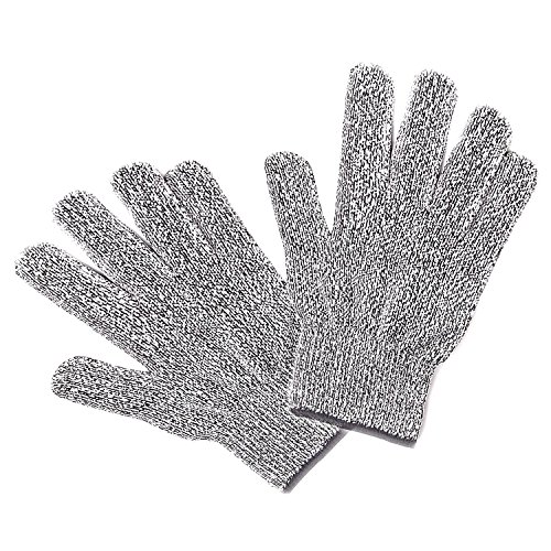 Comkes Cut Resistant Gloves, Food Grade Level 5 Protection, Highest Safety Rating Fishing Glove Kitchen Working for Cutting,Slicing and Wood Carving