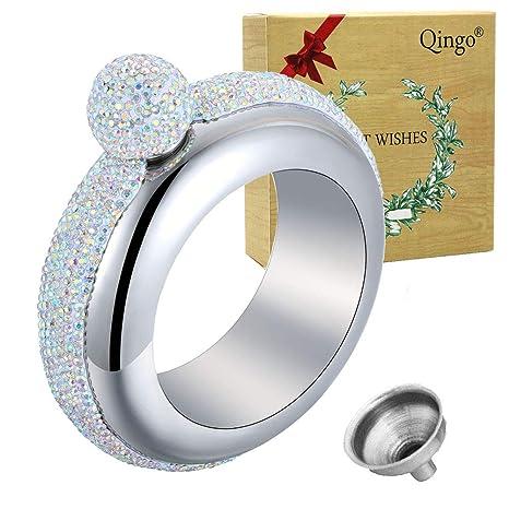 Amazon.com: Qingo - Pulsera con petaca y embudo de acero ...