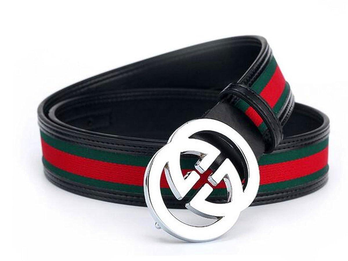 Keg gg Fashion leather belt with silver belt buckle(110CM)