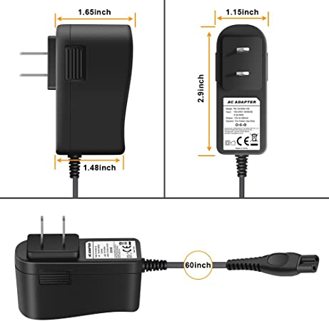 powseed 15 V AC adaptador de alimentación para Philips Norelco Multigroom Pro 3100 5100 7100 Bodygroom Recortadora qg3300 HQ8505 Arcitec Spectr SensoTouch SmartTouch-XL Speed-XL precisión Cool Skin Shaver Razor de batería: Amazon.es: