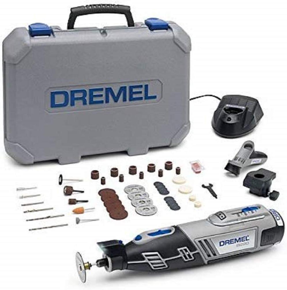 Dremel 8220 Multiherramienta Inalámbrica a Batería Li-ion (12V 1,3Ah) - Kit con 2 Complementos, 45 Accesorios, Velocidad Variable 5,000-35,000rpm: Amazon.es: Bricolaje y herramientas
