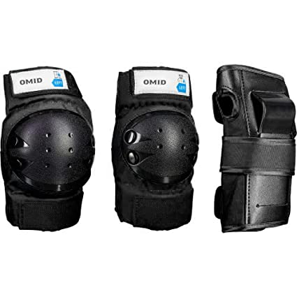 Image Unavailable. Image not available for. Color  OMID Adult Child Knee  Pads Elbow Pads Wrist Guards 3 in 1 Protective Gear Set ba76e519ff