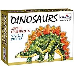 Creative's para niños educativos de papel dinosaurios de Mesa - Rompecabezas 4 (de 5 a 15 uds.) Juego para los niños