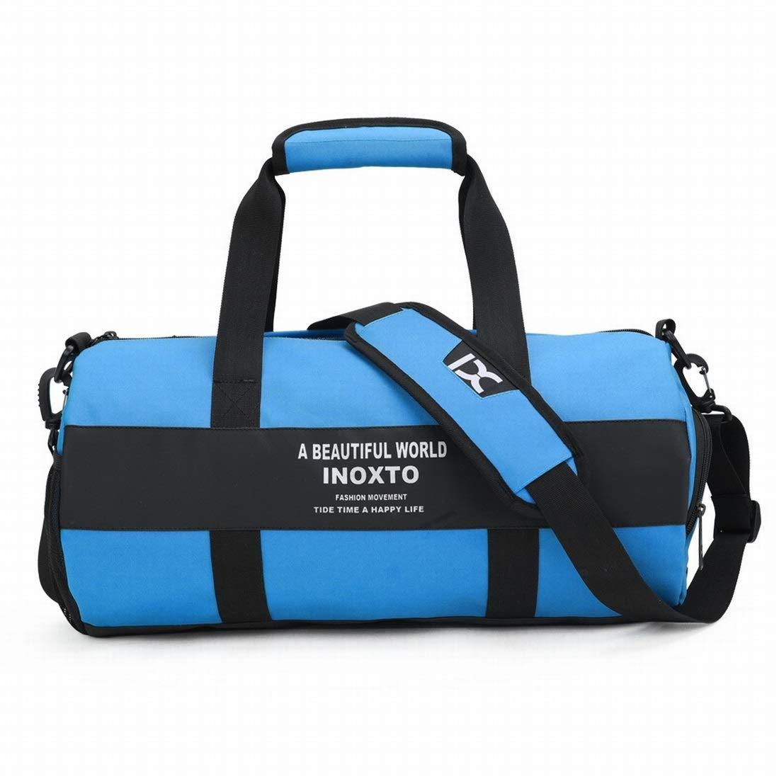Color : Blue Souliyan Travel Bag Duffels Bag Large Capacity Sports Gym Bag for Yoge Fitness