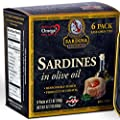 Premium Sardines in Extra Virgin Olive Oil, 3.7 oz Tin (Pack of 6) from Adriatic Sardina