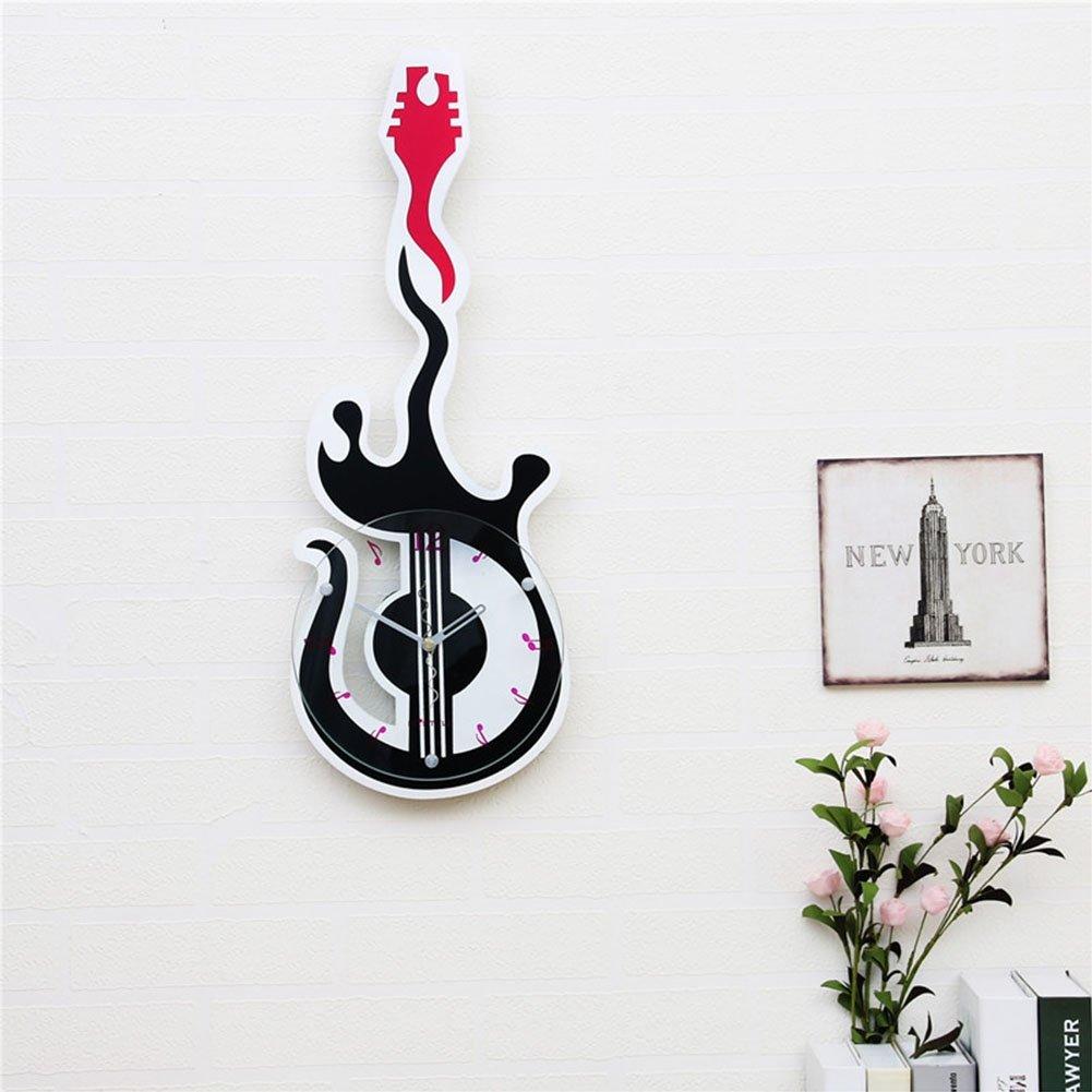 guazhong Creatividad Relojes de Pared 8 Pulgadas Guitarra electrica niño música Relojes de Pared Silencio Art Relojes: Amazon.es: Hogar