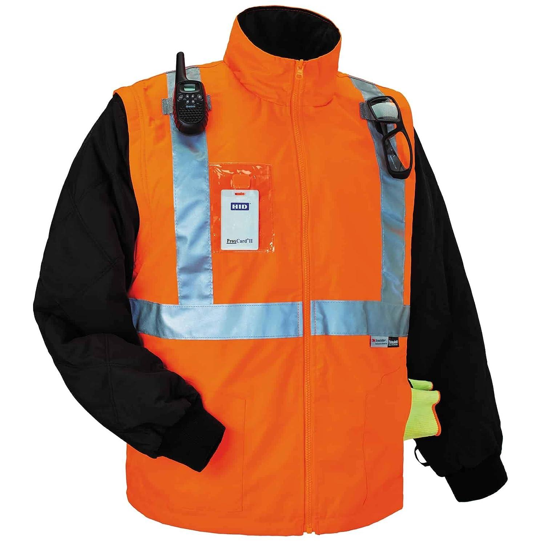 Lime XX-Large Ergodyne GloWear 8287 High Visibility Reflective Convertible Thermal Vest//Jacket