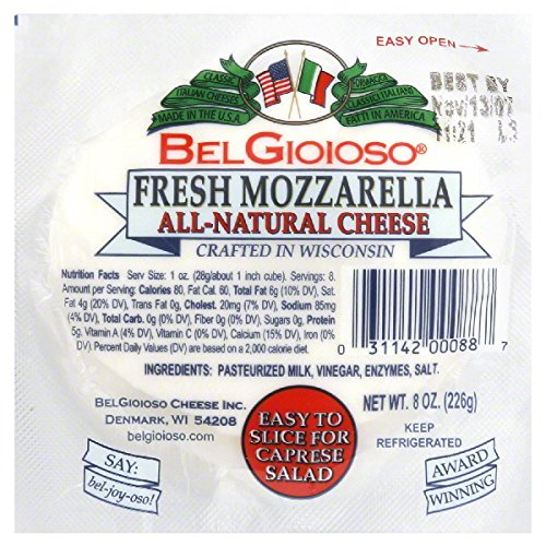 Belgioioso Cheese Ball Mozzarella Fresh 8 0 Oz Amazon Com Grocery Gourmet Food