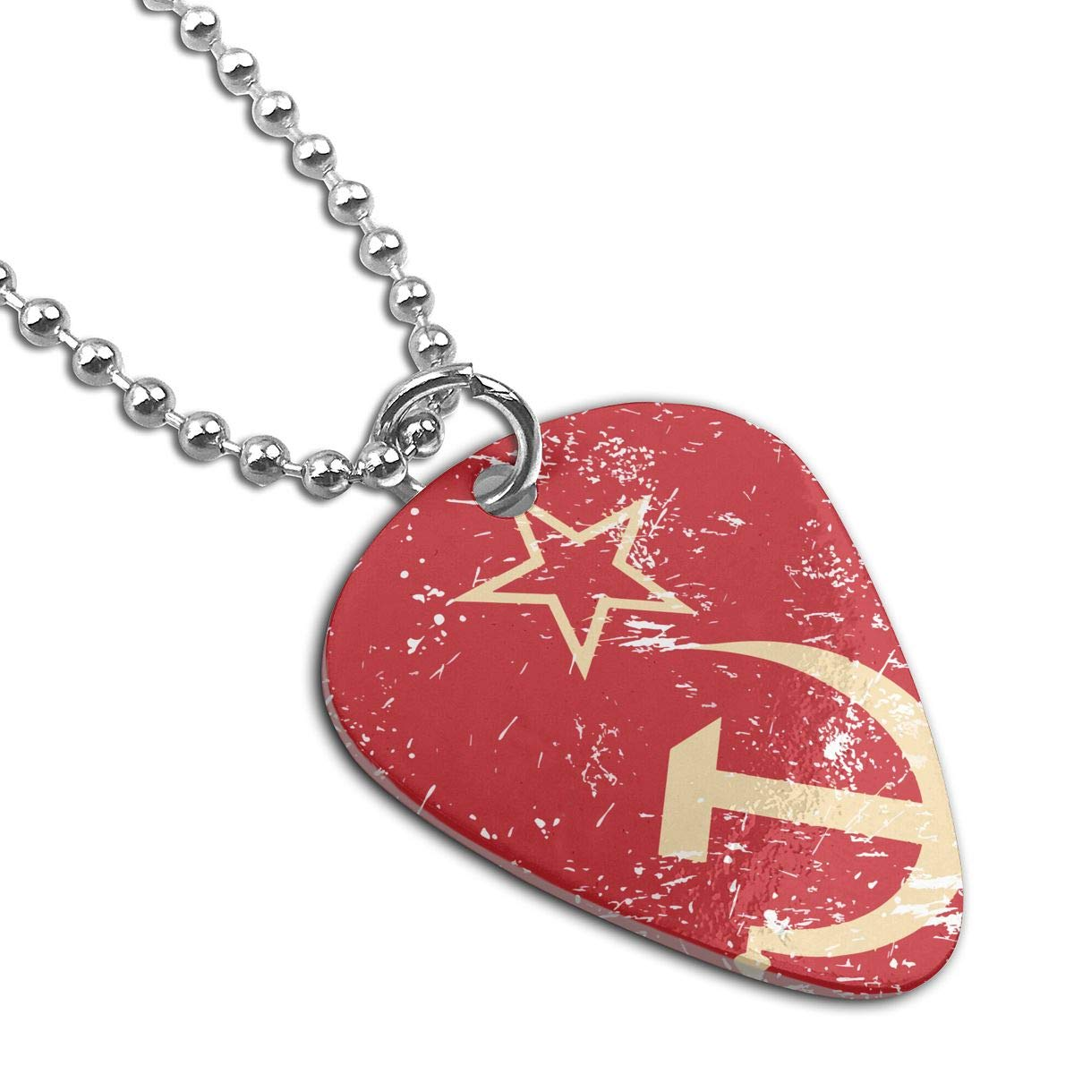 Necklace Communism Soviet Union Retro Flag Military Army Pendant Tag Guitar Picks