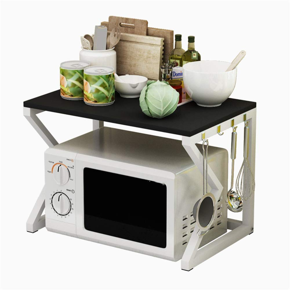 Yuybei-Home Baker's Shelf 2 Tier Microwave Stand Kitchen Cabinet and Counter Shelf Organize Wooden Storage Rack Kitchen Rack Microwave Oven Stand Used for Spice Rack Organization Workstation by Yuybei-Home
