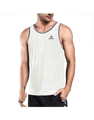 219727deb52ef4 Ogeenier Men s Training Quick-Dry Sports Tank Top Shirt for Gym Fitness  Bodybuilding Running Jogging