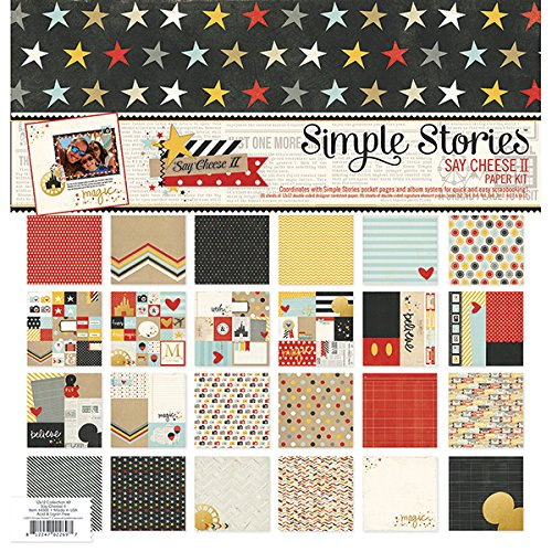 Simple Stories SAY4300 Say Cheese II Paper (12 Pack), 12 by 12""