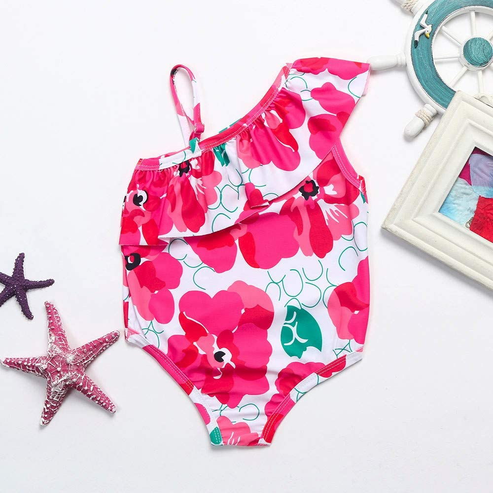 Toddler Baby Girl Floral Swimwear Straps Swimsuit Bathing Beach Romper Clothes by GorNorriss