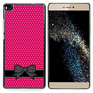 - Pink White Polka Dot Bow Bowtie Black - - Monedero pared Design Premium cuero del tir???¡¯???€????€???????????